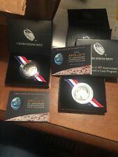 2019-D UNC & 2019-S Proof Apollo 11 Commemorative Clad Half Dollar 2 Coin Scarce