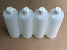 4 - 32 Oz HDPE Plastic Bottles with Squeeze Top Reusable  ( 4 Count ) Brand New