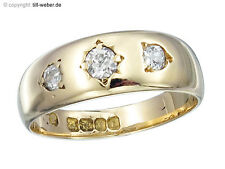 "Ring Antik ""Altschliff Diamant"" Gold England"
