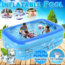 Multi Size Quick Set Inflatable Above Ground Swimming Pool Kids Family Sports