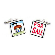 For Sale Cufflinks by Sonia Spencer, Estate Agent, Property Sale, RRP £20