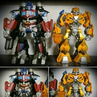 TRANSFORMERS OPTIMUS PRIME MEGA POWER  BOTS & BUMBLEBEE ACTION FIGURES HASBRO