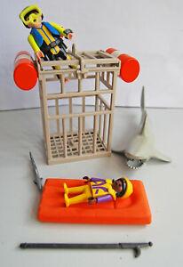 Taucher Hai Käfig Luftmatratze Playmobil Männchen