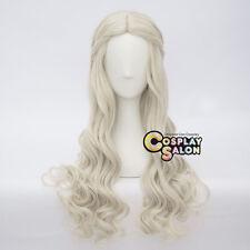 Anime White Queen Light Blonde Braid Halloween Cosplay Hair Wig Heat Resistant