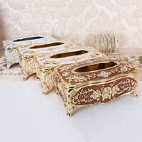 European Retro Style Tissue Box Napkin Holder Paper Case Cover Home Room Decor