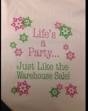 Lilly Pulitzer 2012 Holiday Resort Warehouse Sale Shirt Life's A Party XL