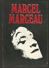 Programme Broadway Teather Marcel Marceau French Mime 1987