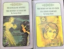 LOT 2 NANCY DREW TWIN THRILLERS  #1&2 CLOCK, STAIRCASE,#3&4 BUNGALOW, LILAC INN