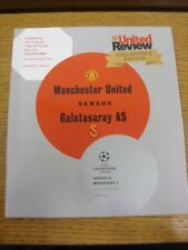 19/09/2012 Manchester United v Galatasaray [Champions League] . Any faults with