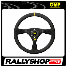 OMP WRC Steering Wheel SUEDE LEATHER BLACK ANODIZED Race, Rally, Tuning