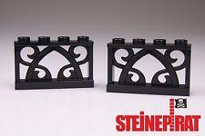 LEGO® 2x 19121 (-NEU-) Ornament Zaun / Absperrung / orientalisch schwarz 6138726