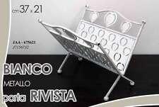 PORTA RIVISTE IN METALLO BIANCO 37*21 CM JAA-675621
