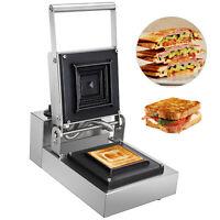 Sandwich Toaster Maker Press/Toast Bread Non‑Stick 1250W 1xBread