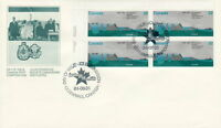 CANADA #1015 32¢ ST LAWRENCE SEAWAY UL PLATE BLOCK FIRST DAY COVER
