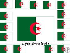 Assortiment lot de20 autocollants Vinyle stickers drapeau Algérie-Algeria