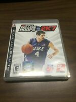College Hoops NCAA 2K7 Sony Playstation 3 PS3 no manual Very Good Disc Gaming