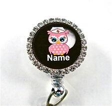 ID STETHOSCOPE NAME TAG BLING NIGHT OWL, NURSE,RN,MEDICAL,ER,MA,VET TECH,VET