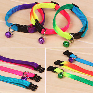 Reflective Adjustable Small Bell Pet Dog Puppy Cat Collar Tag Neck Strap D16.bu