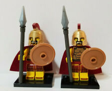 LEGO Collectible Minifigure Series 2 Spartan Warrior with Accessories Lot of 2