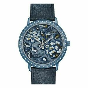 Guess Women's Watch Ladies Stainless Steel Leather Band W0821L2 Blue