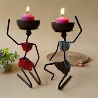 Candlestick Metal Candle Holder African Art Craft Iron Home Table Decoration New