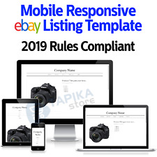Template Ebay Listing Auction 2020 Html Design Responsive Professional Mobile