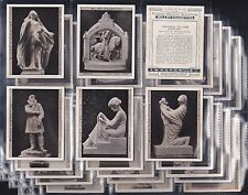 WILLS, MODERN BRITISH SCULPTURE, LARGE SET OF 30, ISSUED IN 1928.