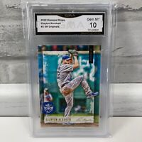 2020 Diamond Kings DK Originals Clayton Kershaw #DKO-2 Dodgers GMA Gem Mint 10