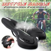 GEL Breathable Soft Bike Saddle PVC Leather Comfortable Road MTB Saddle/*