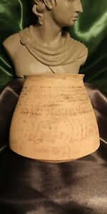 *RARE* TIME OF MOSES/ABRAHAM 2,000 B.C. HOLY LAND, TERRA COTTA JUG/BOWL VESSEL