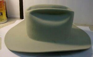 "Vintage? RESISTOL 5X Beaver Cowboy Hat 7 1/2, 4"" brim, Beige/Gray (no hat band)"