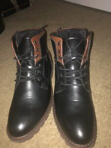 Brown And Black Men Boots