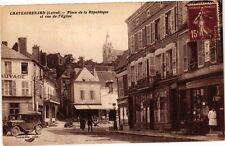 CPA   Chateaurenard (Loiret) - Place de la République et vue de l'Eglise(228166)