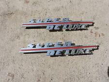 """Vintage Original 1946 - 1947 Ford """" Super Deluxe """" Emblem 4 prong 2"""
