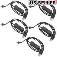 5x Micro USB Cable with ON/OFF Switch Power Button Phone Charging & Raspberry Pi
