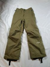 Girl's Spyder Snowboarding Pants Olive Green Size 16 Youth Snow Pants Insulated