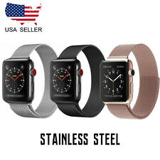 Apple Watch Band Stainless Steel Metal Closure Loop strap with Series 5 4 3 2