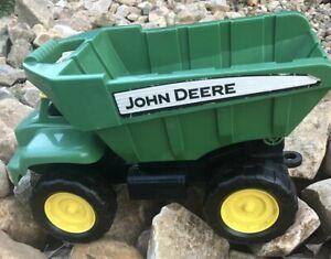 """John Deere Big Scoop Toy Dump Truck 15"""" Green Ertl Legend Product Dump Bed"""
