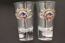 RARE NY METS Collectors Gift Box with Flared Shooters Two shot glasses BRAND NEW