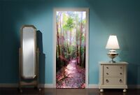 Door Mural Enchanted Forest View Wall Stickers Decal Wallpaper 22