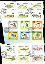 Zimbabwe kiloware - 197 x stamps, many commemorative sets from FDCs (61X)