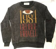 1984 George Orwell 👁 Out Of Print Sweater Big Brother Size Small Grey Unisex