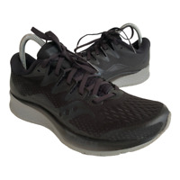 Saucony Ride ISO 2 Womens Size 9 Black Gray Athletic Running Shoes Sneakers