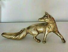 VINTAGE BRASS FOX , HEAVY IN BRASS, GREAT CONDITION