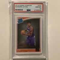 2018 Panini Donruss #157 DeAndre Ayton Suns Rated Rookie Card RC PSA 10