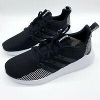 New Adidas Men's Questar Flow Shoes Size 10 Black White Running Sneakers