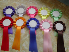 A set of 10 BLANK rosettes, choose your colour.
