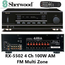 Sherwood RX-5502 4 Channel Receiver 100W AM FM Stereo Tuner Phono Input 2 Zone