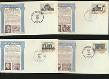 American Architecture 1928 - 1931 Set of 4 FDC w/ unofficial First Days LOT 917