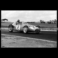 #pha.014192 Photo FERRARI 553 F1 JOSE FROILAN GONZALEZ GRAND PRIX ACF 1954 Car